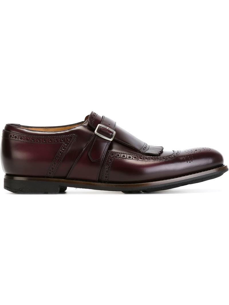 Prada Men S Burgundy Slip In Shoe