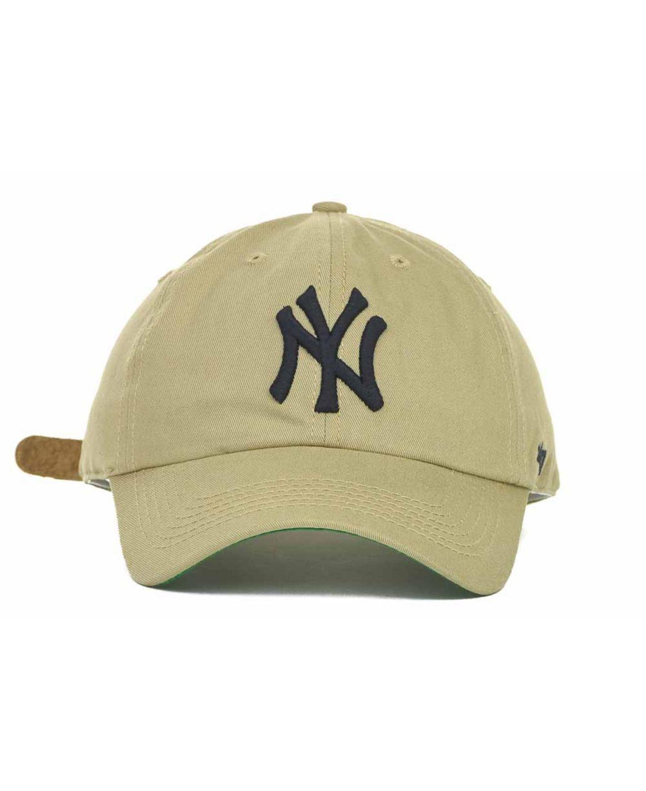 Lyst - 47 Brand New York Yankees Bergen Ii Cap in Natural for Men d8dcb76aba4