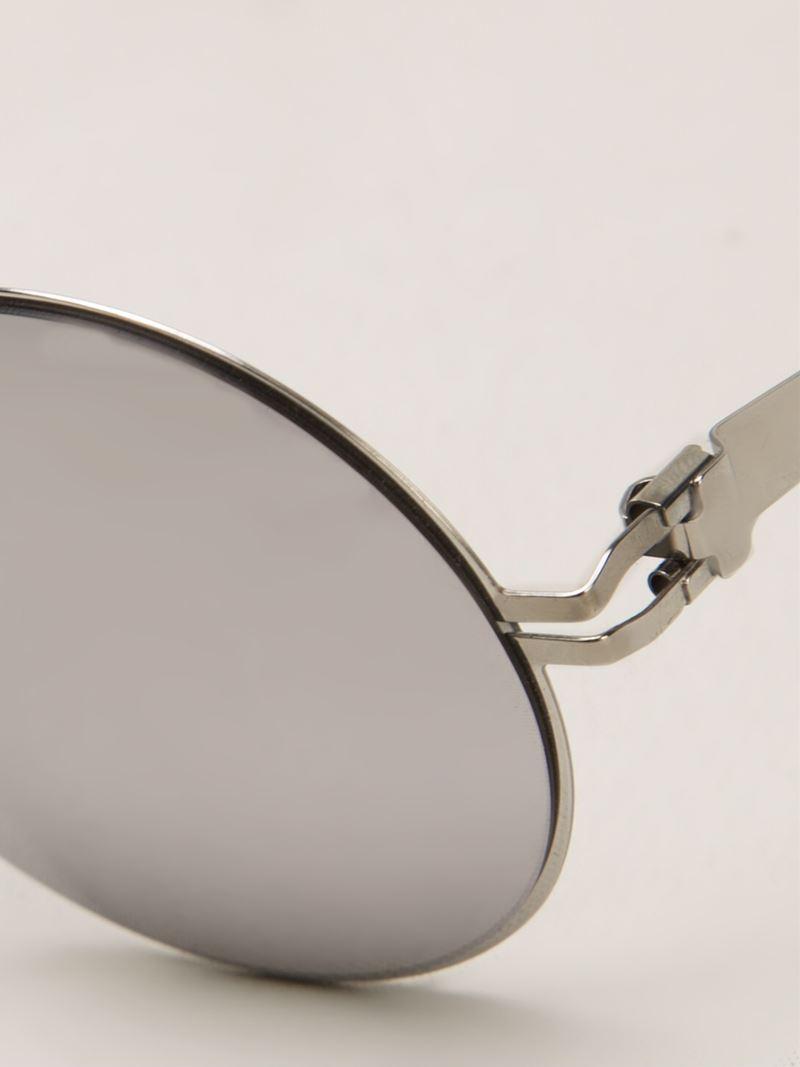 Mykita Bernhard Willhelm 'janis' Sunglasses in Metallic (Grey) for Men