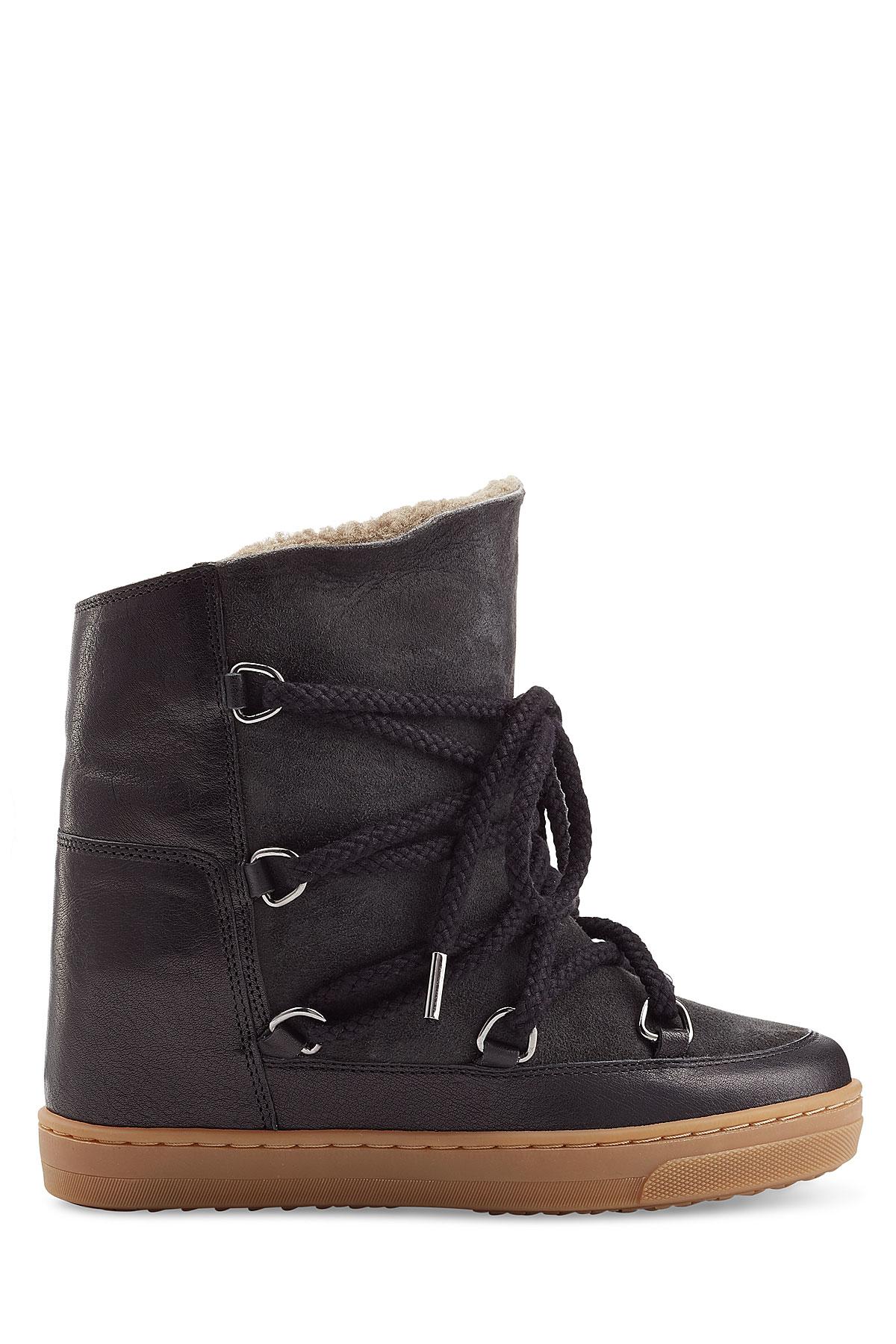 toile isabel marant nowles ankle boots black in black lyst. Black Bedroom Furniture Sets. Home Design Ideas