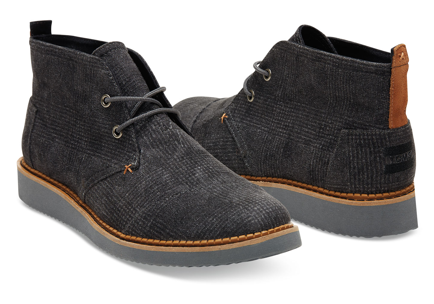 Toms Castlerock Grey Plaid Men's Mateo Chukka Boots in Gray for ...