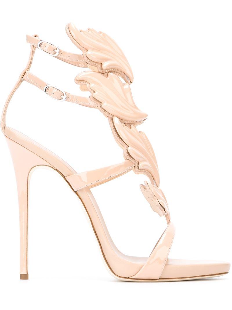 Giuseppe Zanotti Wing Sandals in Pink
