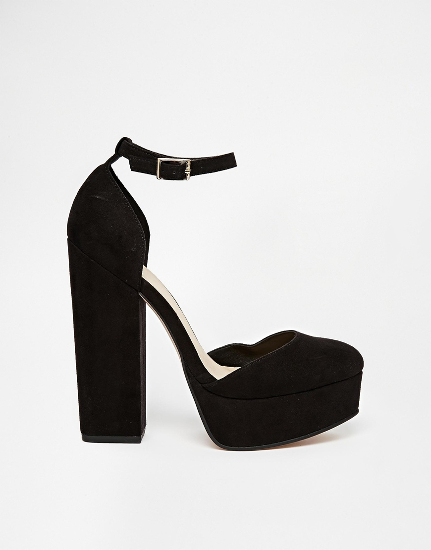 21fdeabaf255 Lyst - ASOS Pendulum Platform Shoes in Black