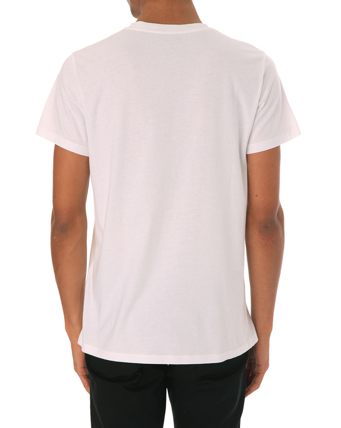 A p c beach white printed t shirt in white for men lyst for Apc white t shirt