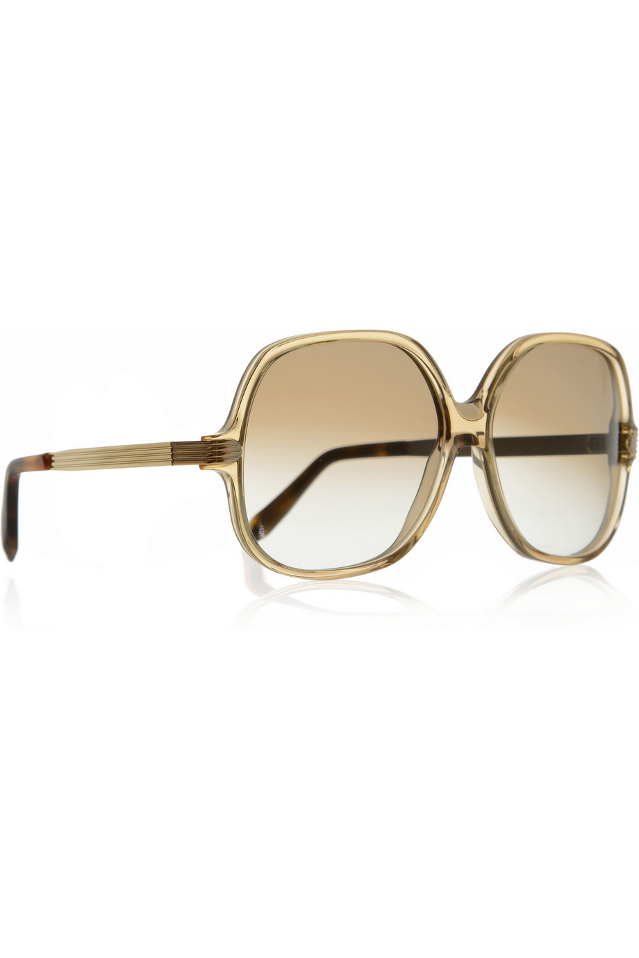 Victoria Beckham Square-Frame Acetate Sunglasses in Gold ...