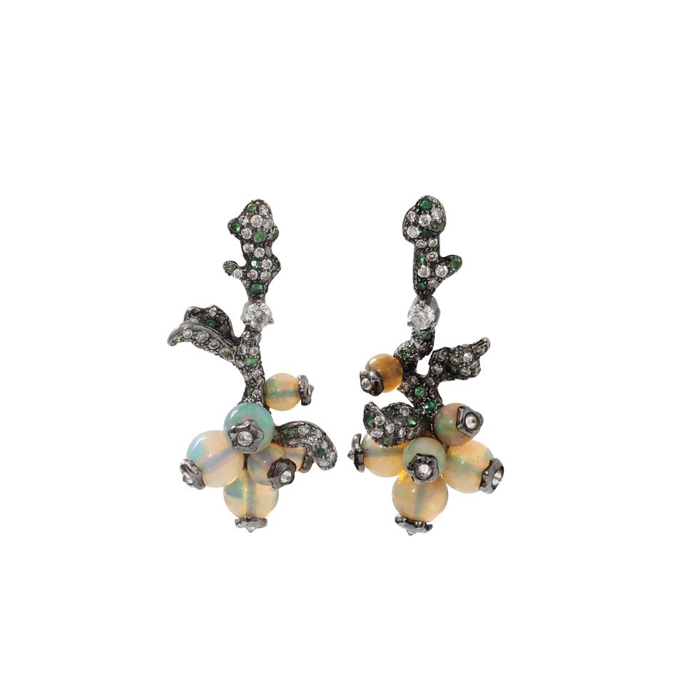 Arunashi Opal Bead Fruit Earrings In Metallic Lyst