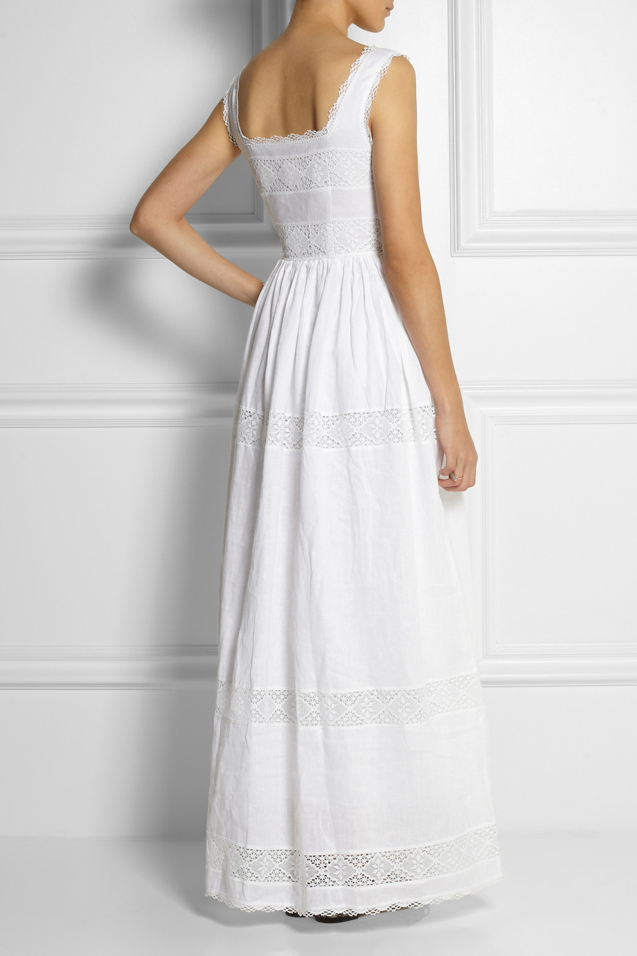 Collette By Collette Dinnigan Taormina Linen And Lace Maxi