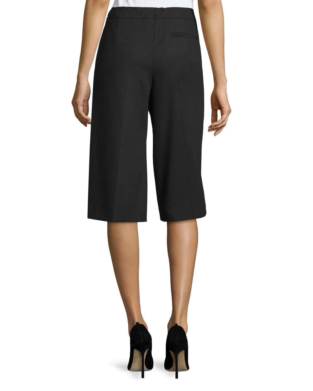 Escada Wide-leg Knee-length Pants in Black