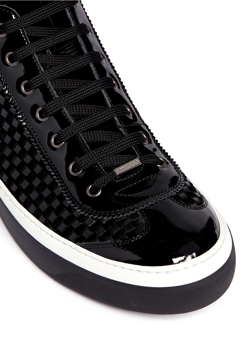 Jimmy Choo Armure Jacquard Chaussures De Sport Salut-top - Noir 7FhFqK