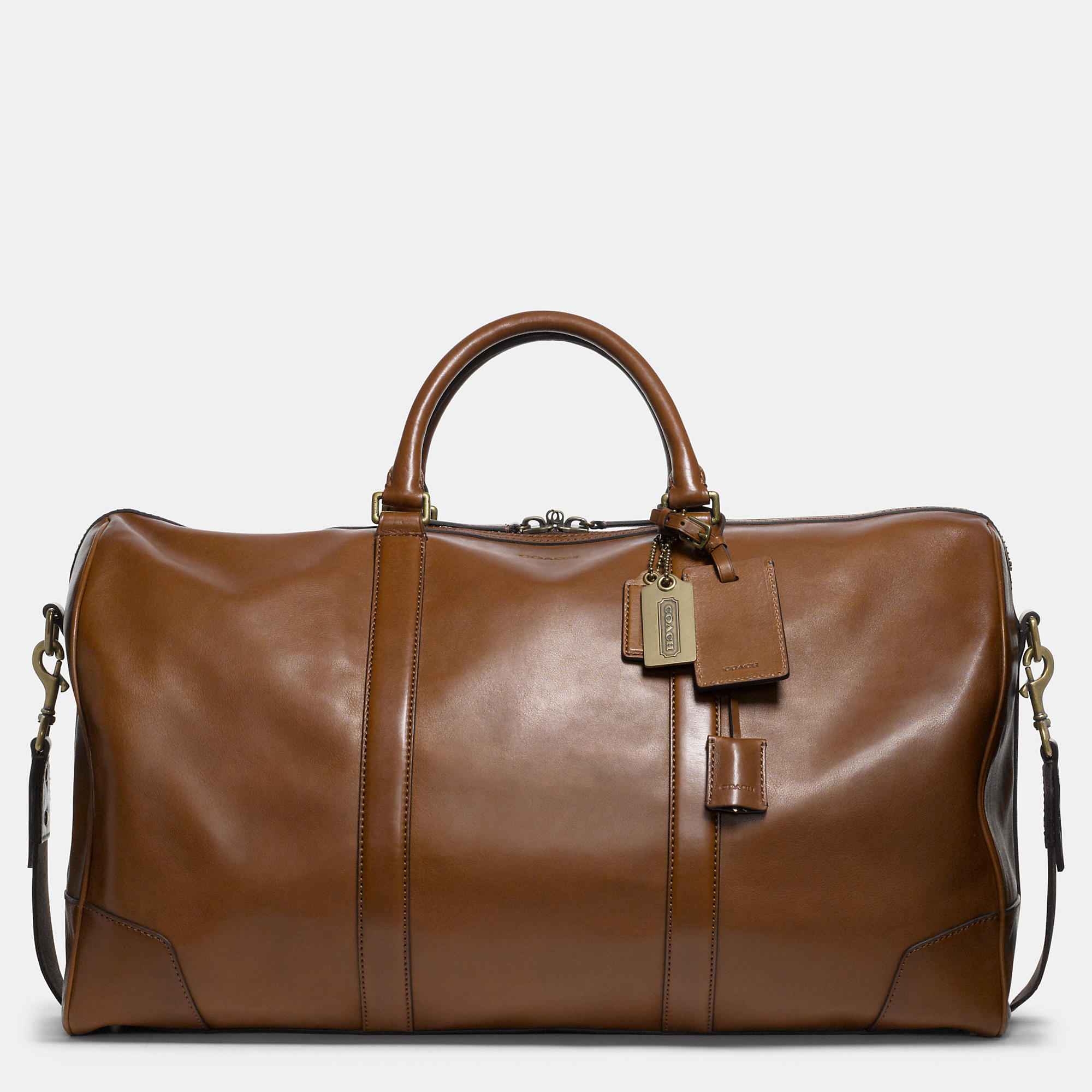 Coach Bleecker Cabin Bag In Leather in Brown for Men