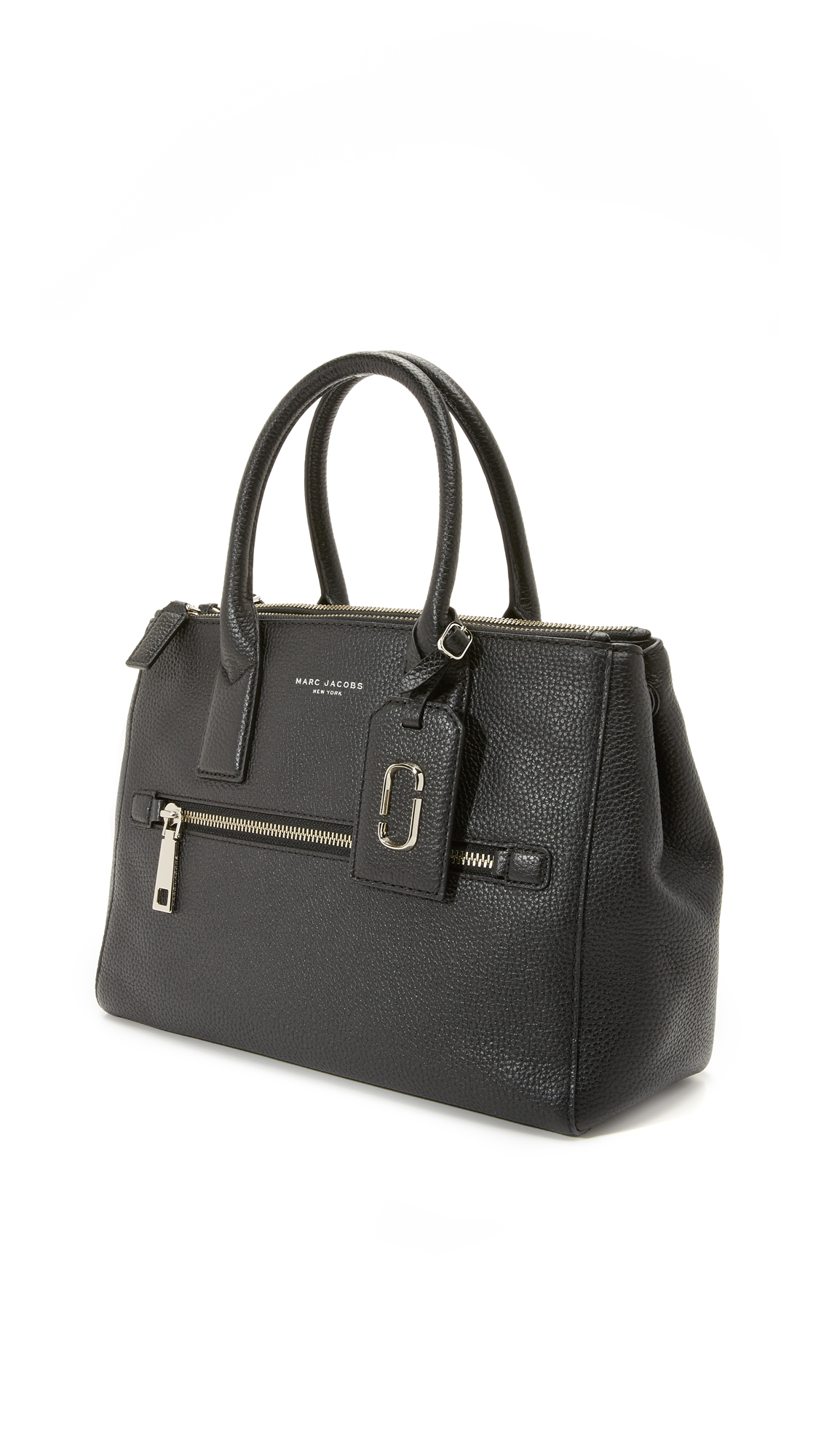 Marc Jacobs Leather Gotham East / West Tote in Black