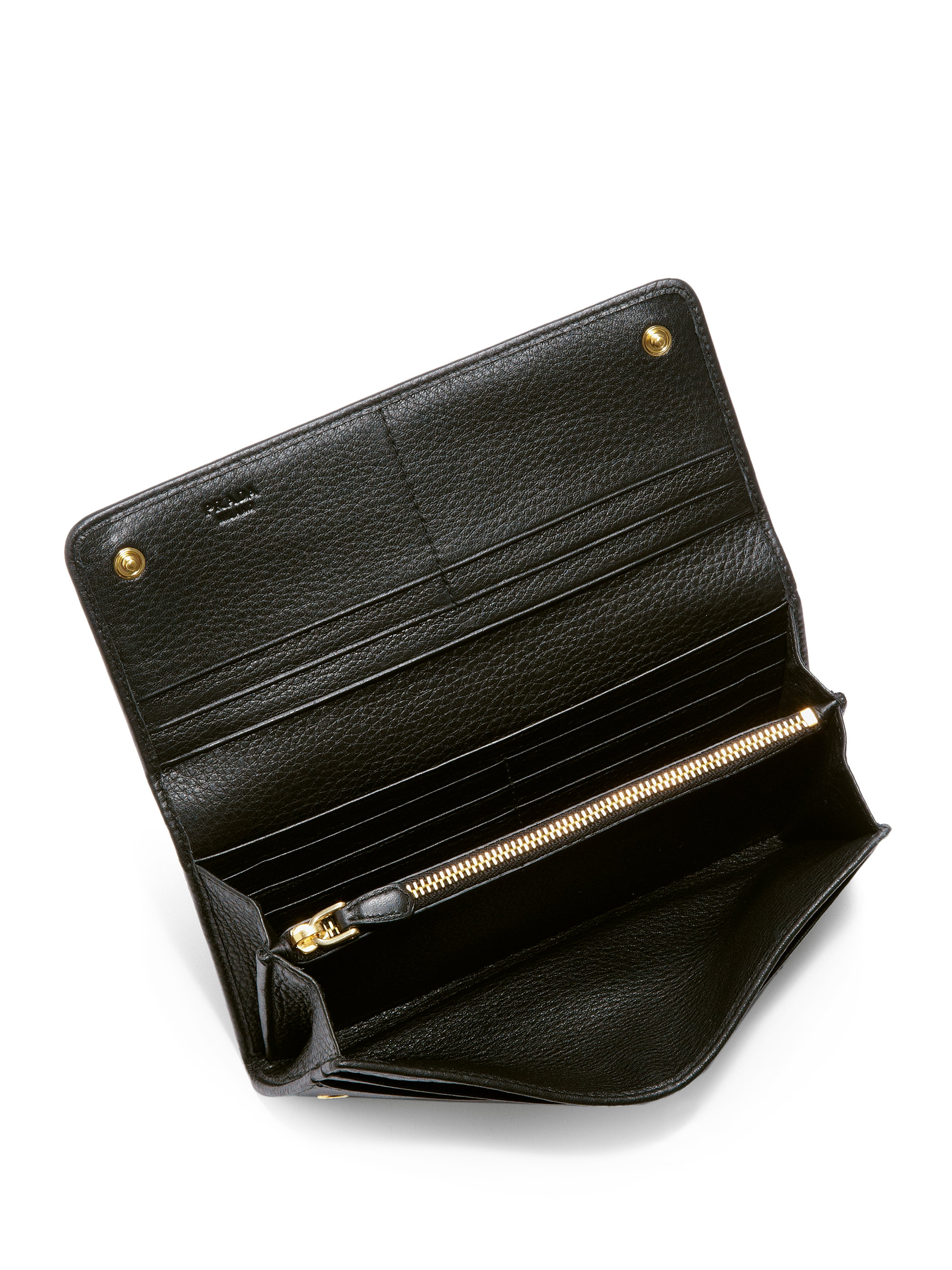 ac037ad13d5e Prada Vitello Phoenix Flap Continental Wallet in Black (NERO-BLACK .