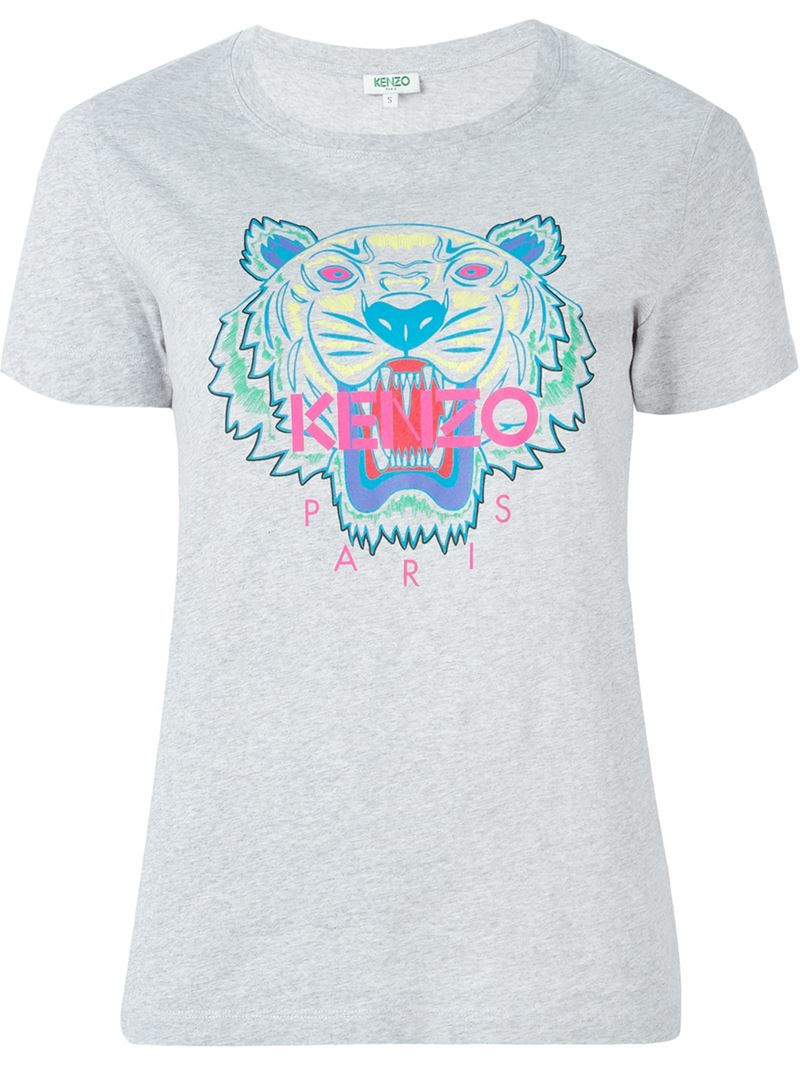 142969e3092bf KENZO 'tiger' T-shirt in Gray - Lyst