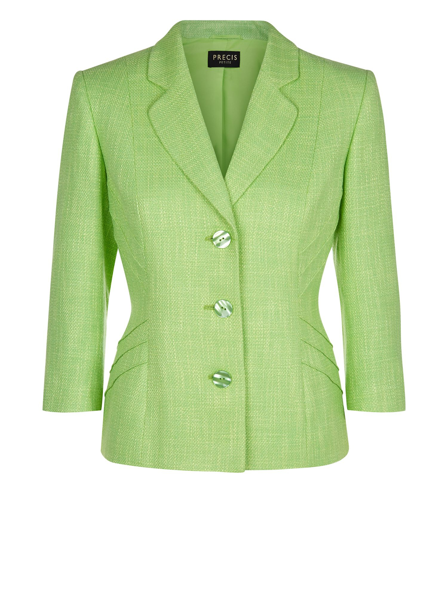 Precis petite Apple Green Tweed Jacket in Green | Lyst