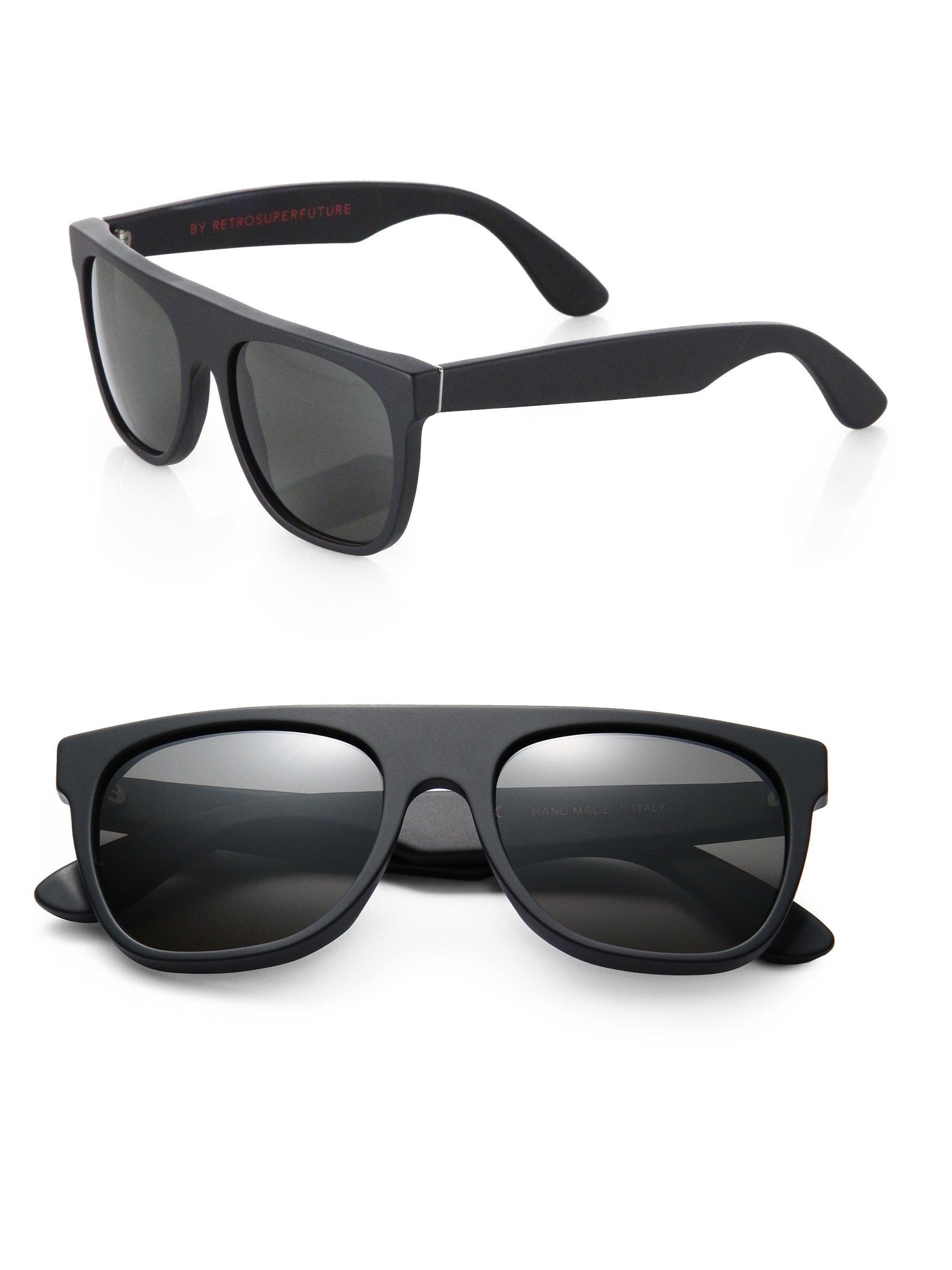 Super Sunglasses Retrosuperfuture  retrosuperfuture flat top sunglasses in black for men lyst