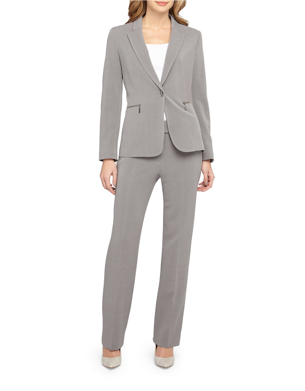 4a4d59cd0f275 Lyst - Tahari 2-piece Jacket And Pants Set in Gray