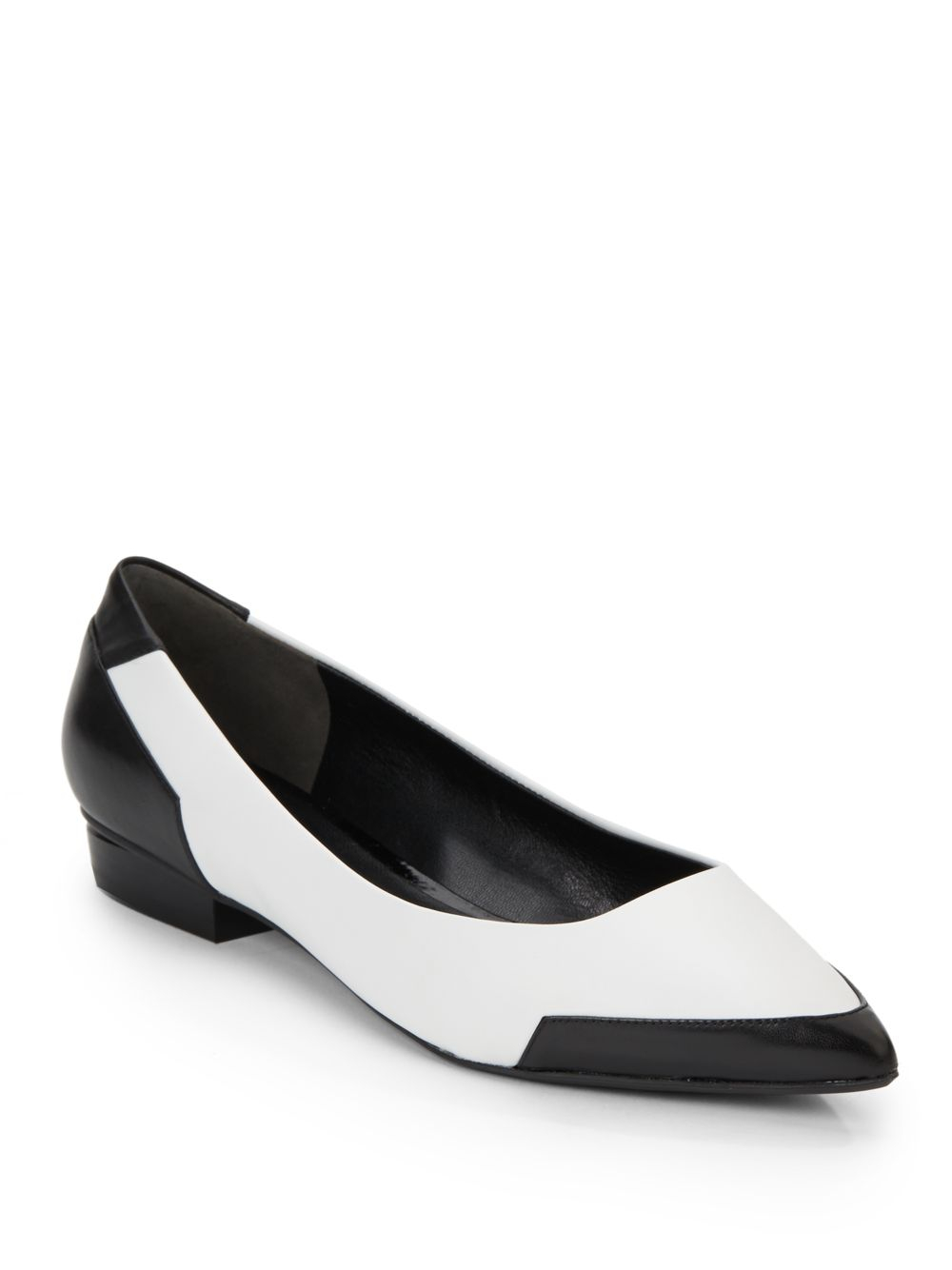 Lyst Kenneth Cole Bonita Two Tone Leather Point Toe