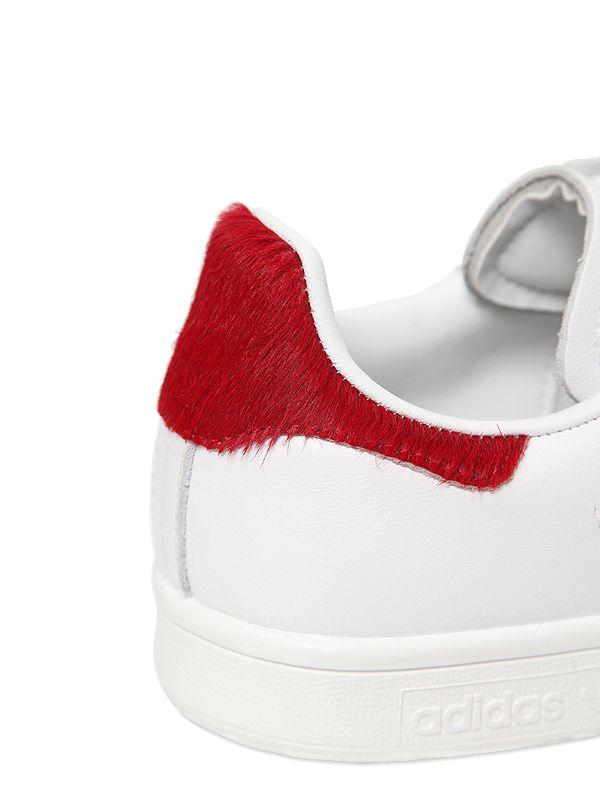 adidas stan smith rood pony hair