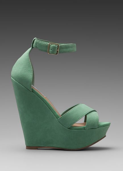 Steve Madden Xenon Wedge In Mint In Green Mint Green Lyst