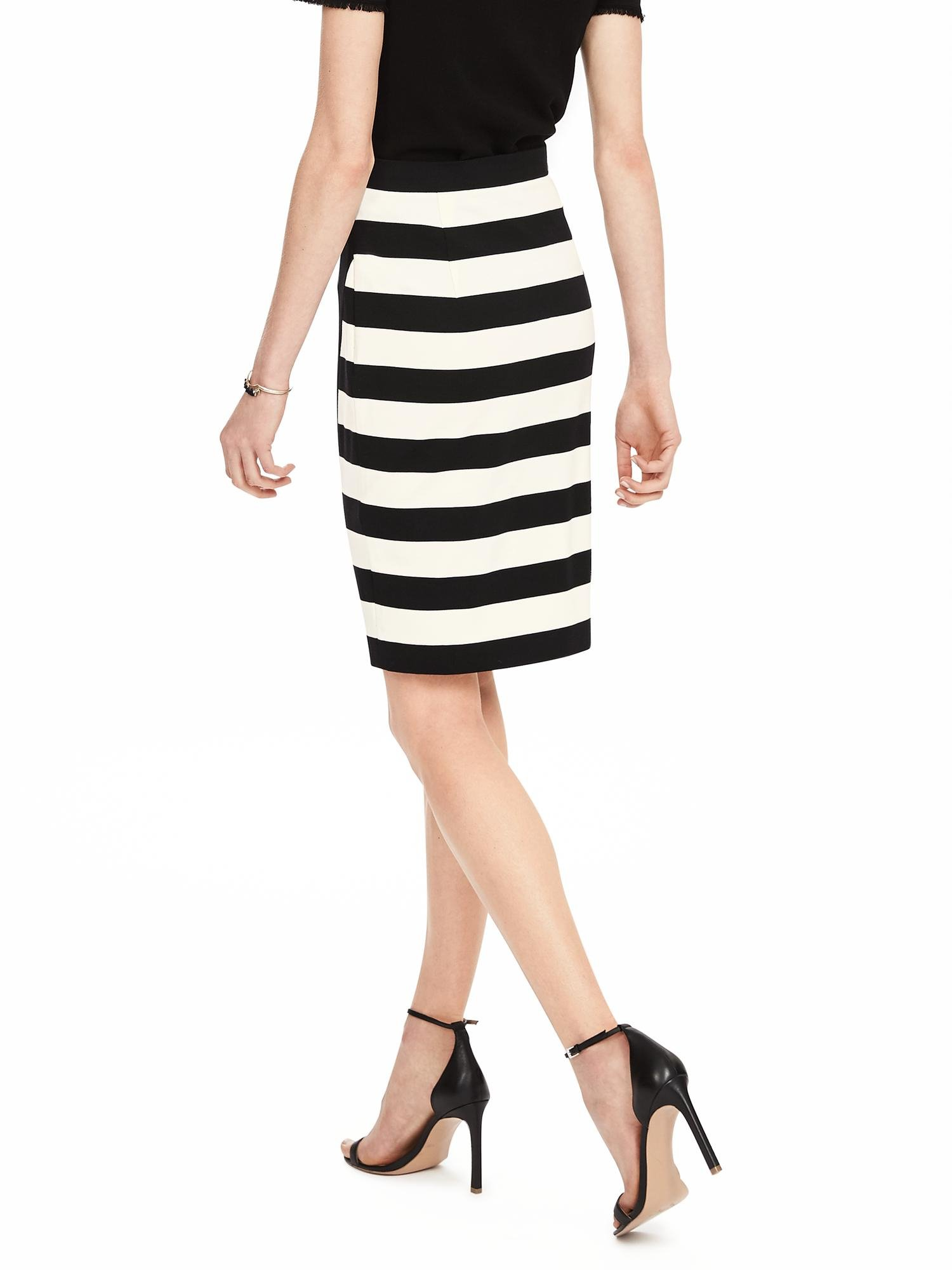 banana republic rugby stripe pencil skirt in white lyst