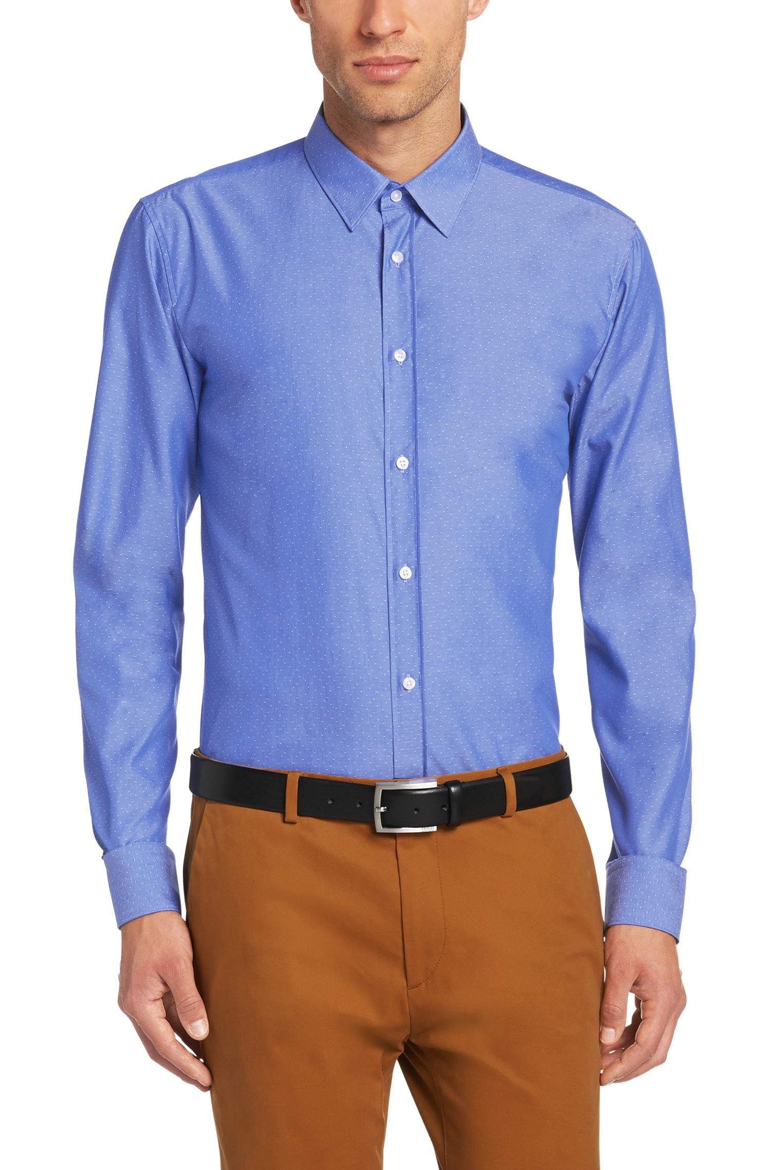 hugo slim fit shirt in cotton 39 elisha 39 in blue for men lyst. Black Bedroom Furniture Sets. Home Design Ideas
