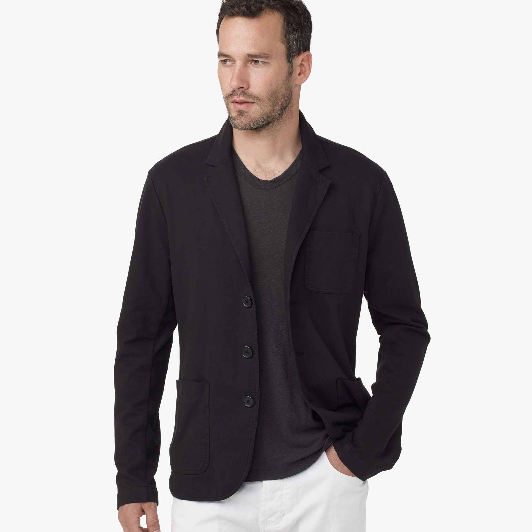 Lyst James Perse Knit Twill Blazer In Black For Men