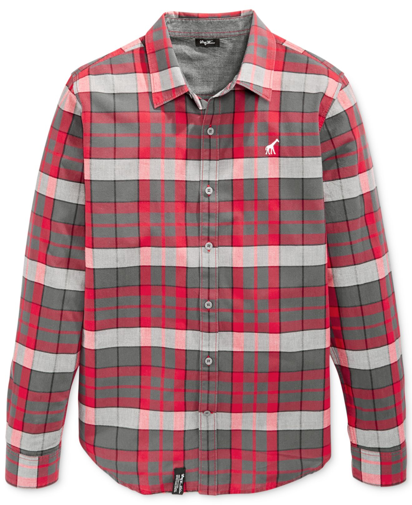 Lrg Big And Tall Rock Bottom Plaid Flannel Shirt In Red