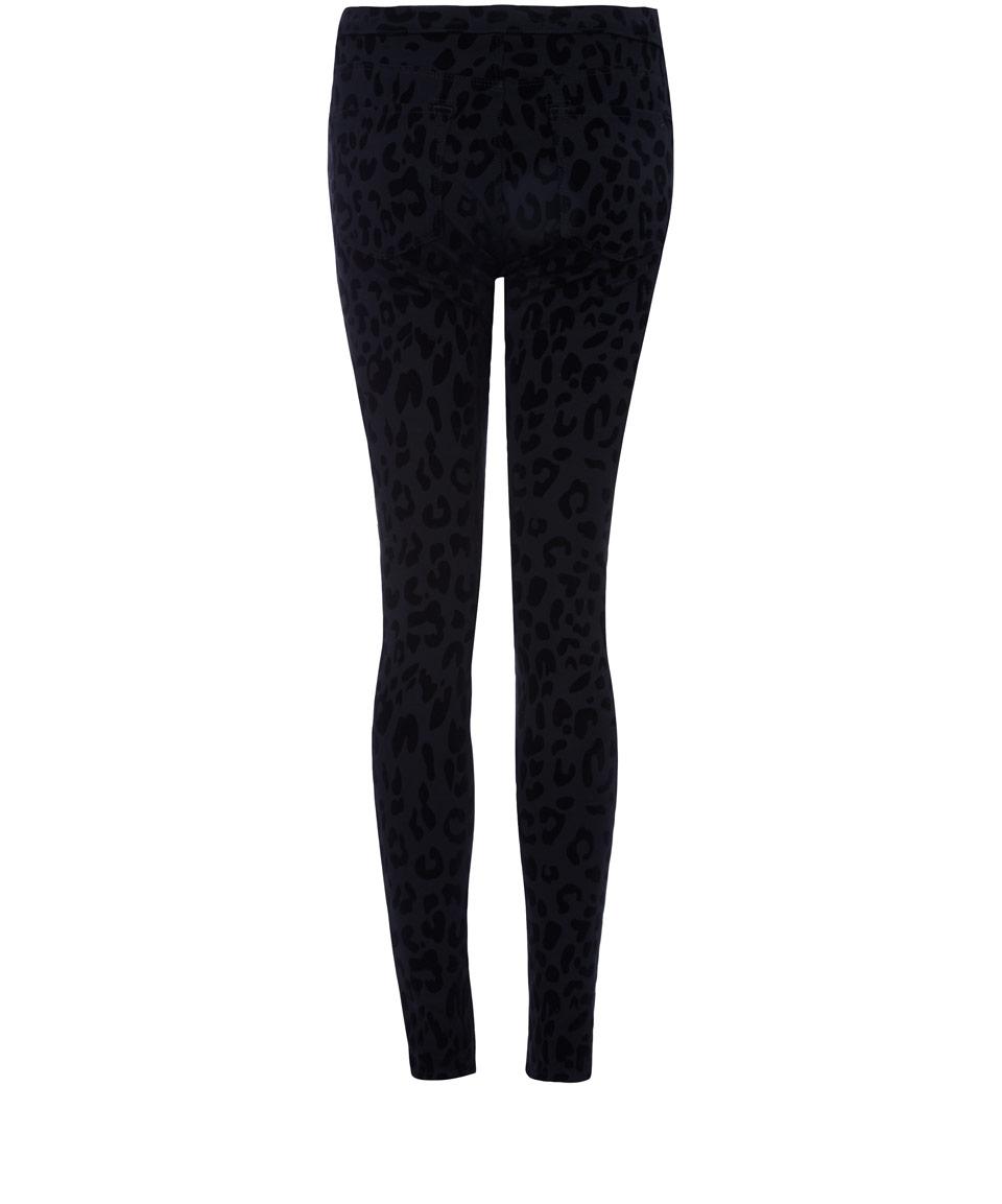 j brand black 620 photo ready super skinny leopard jeans in black lyst. Black Bedroom Furniture Sets. Home Design Ideas