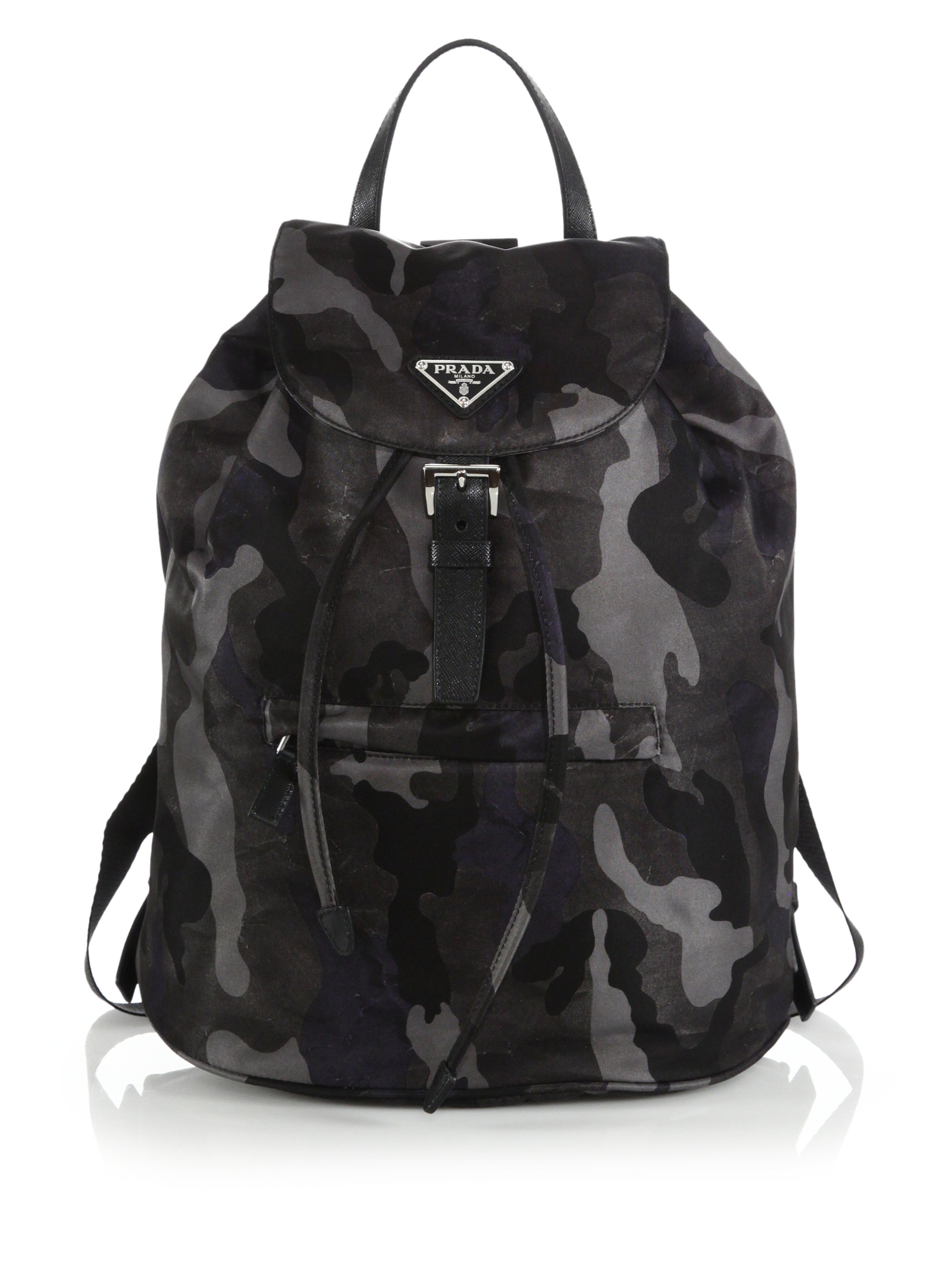 prada messenger bags sale - Prada Tessuto Camouflage Backpack in Black (GREY-BLACK) | Lyst