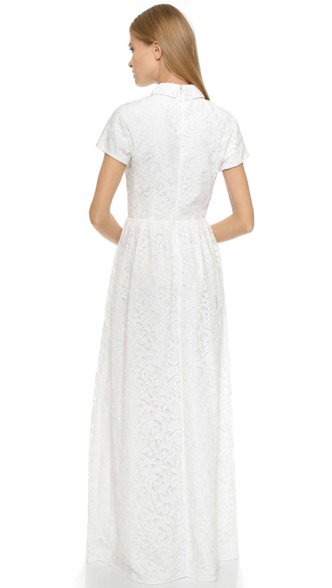Lyst - Carven Lace Gown - White in White