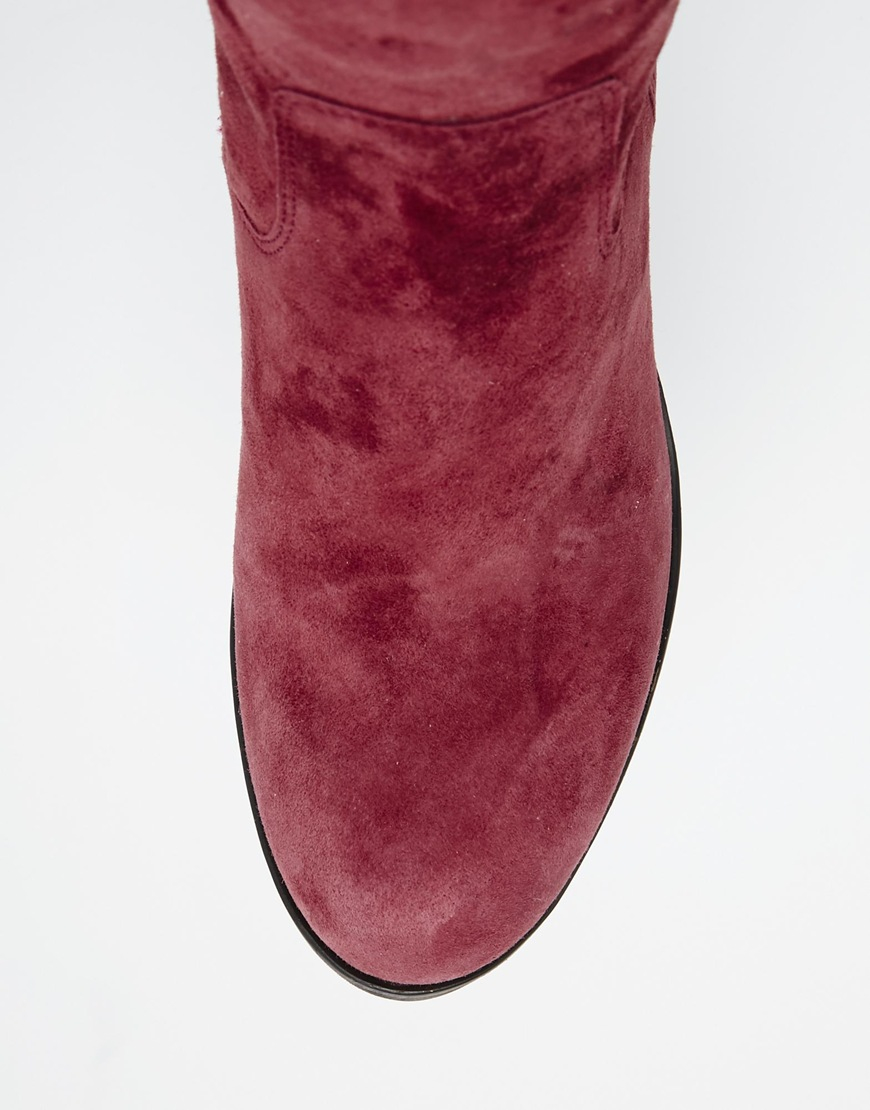 e1743b356b9 Lyst - Steve Madden Octagon Burgundy Heeled Over The Knee Boots in ...