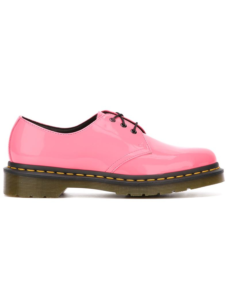 dr martens 1461 lace up shoes in pink lyst