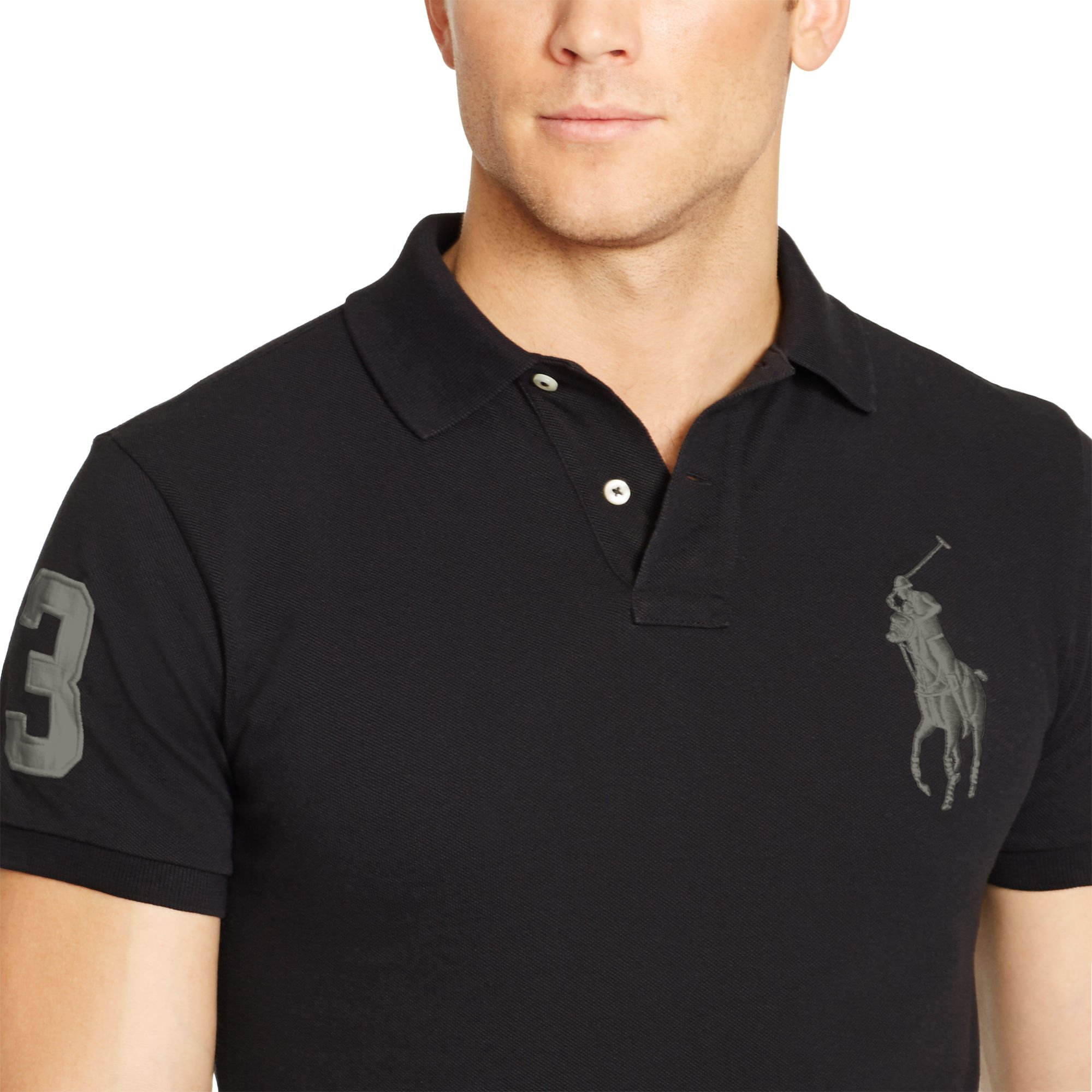 ... Ralph Lauren Custom Tonal Big Pony Polo Navy ...