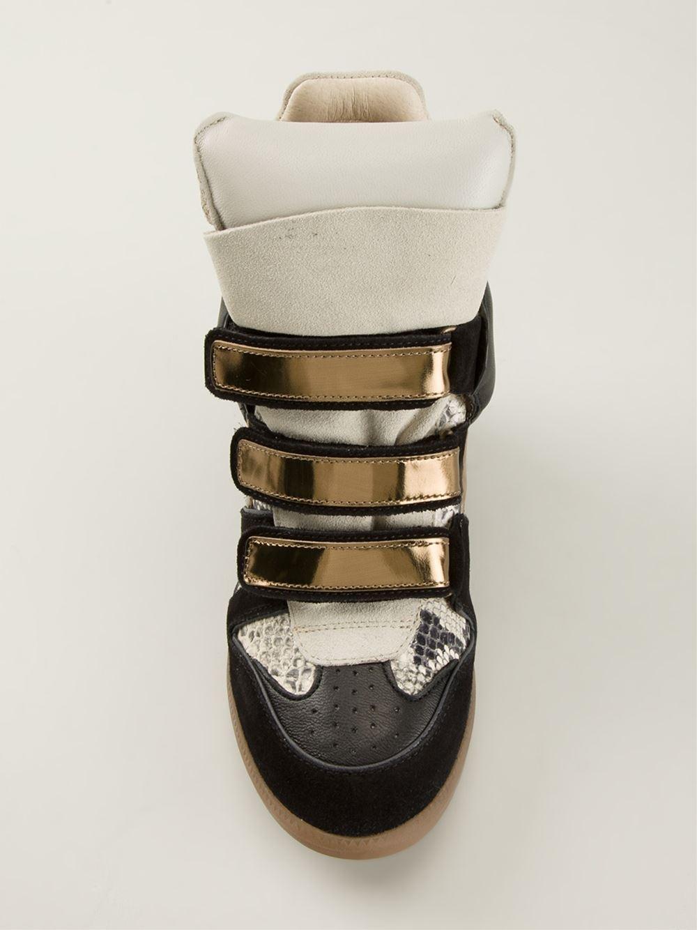 Étoile Isabel Marant Bekett Hitop Sneakers in Black