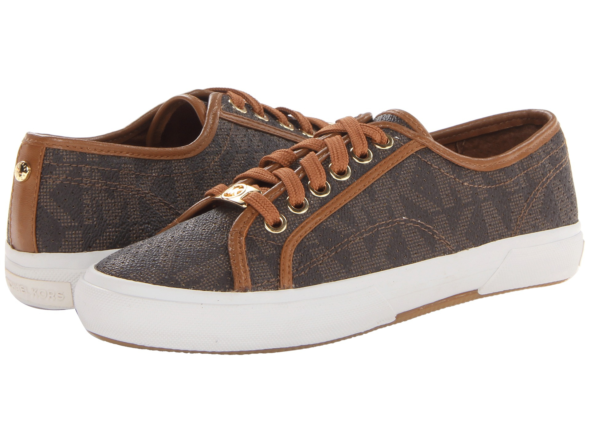 above compliance exotic  MICHAEL Michael Kors Canvas Boerum Sneaker in Brown - Lyst