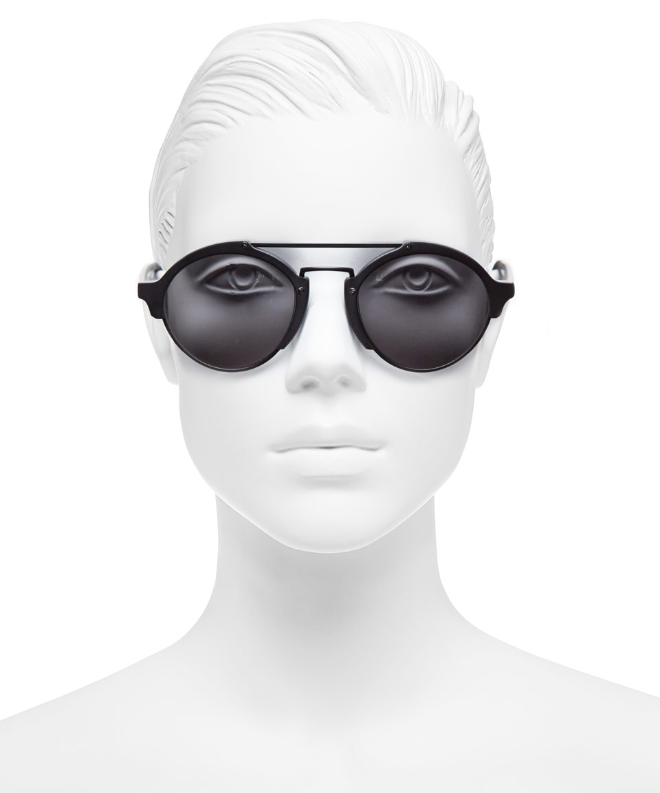 1fa8695238aa2 Lyst - Illesteva Black Milan Ii In Matte Sunglasses in Black