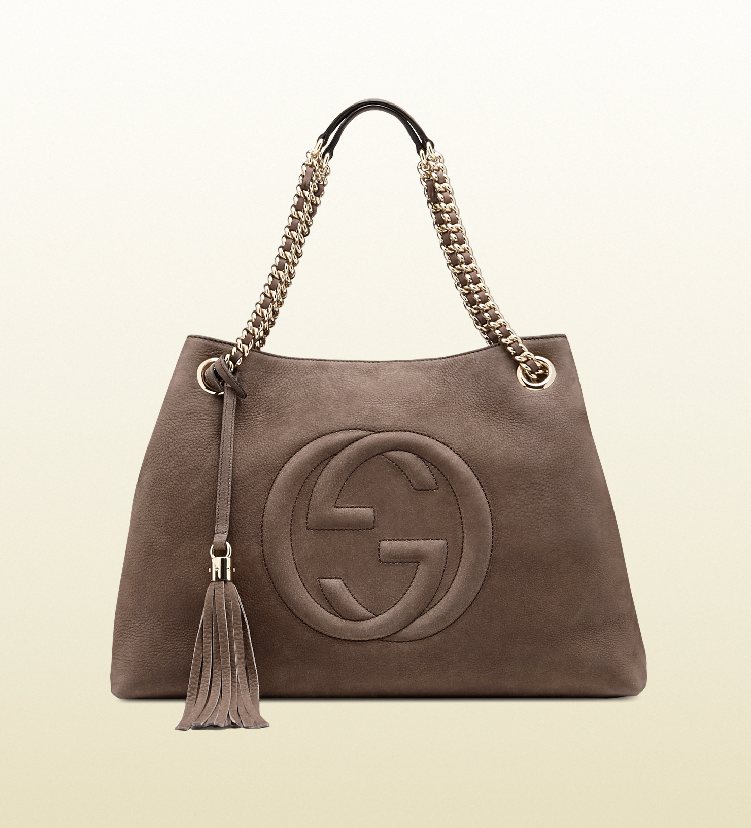 4e07d3cb1ade Lyst - Gucci Soho Nubuck Leather Shoulder Bag in Gray