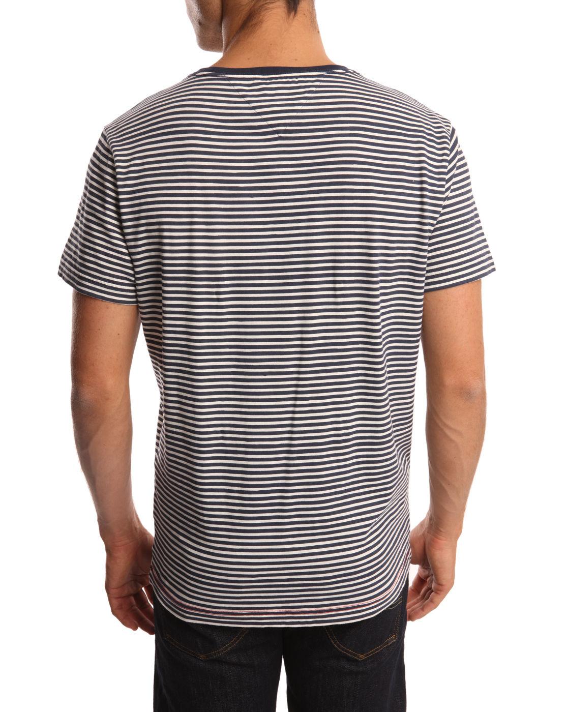 Tommy hilfiger anchor striped blue tshirt in blue for men for Tommy hilfiger fitzgerald striped shirt
