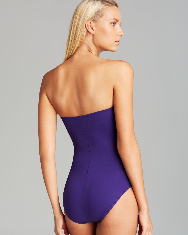 a03b3ce8db2 La Blanca Island Goddess Bandeau One Piece Swimsuit in Purple - Lyst