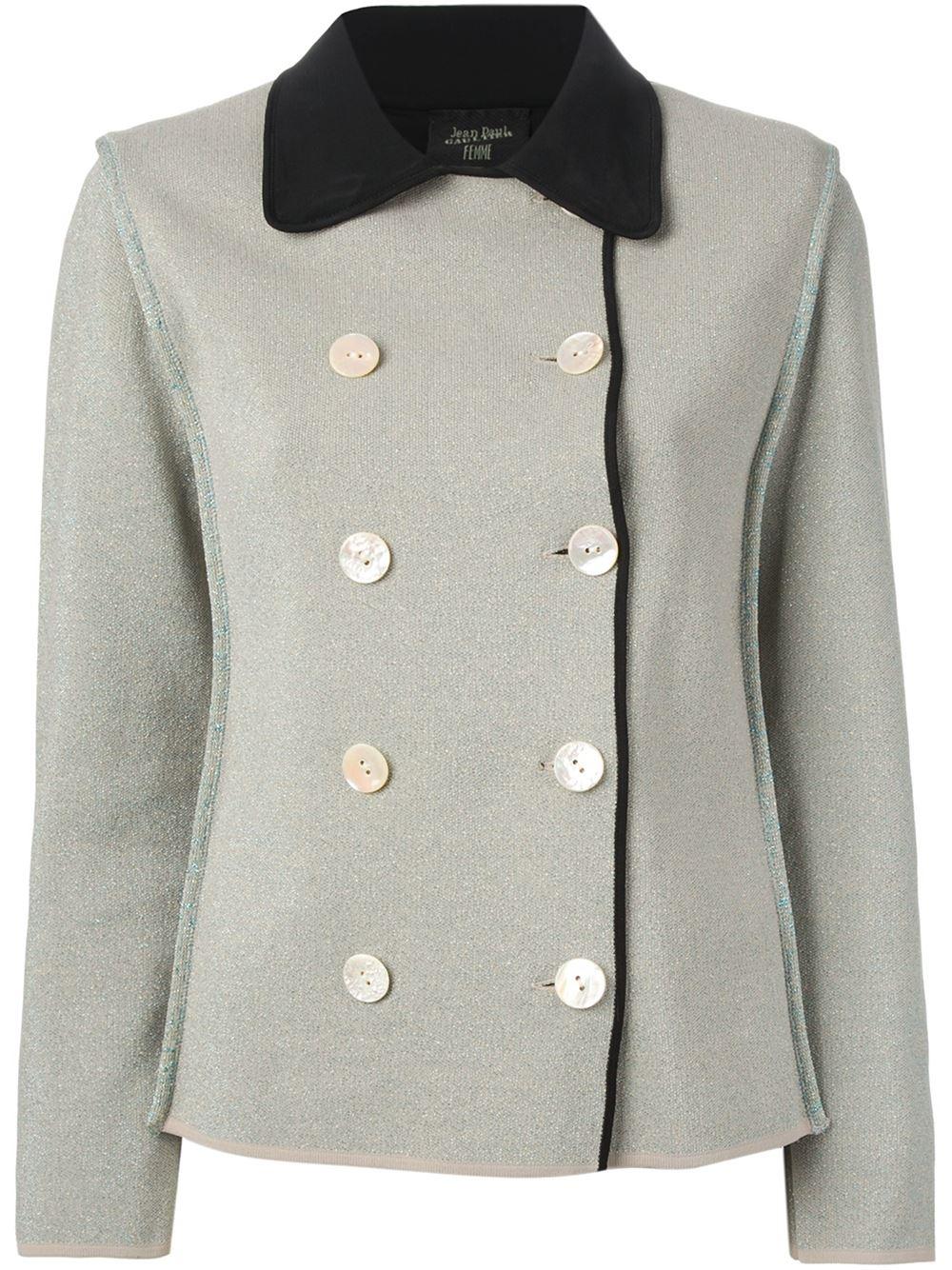 Jean Paul Gaultier Lam 233 Boucl 233 Jacket In Gray Grey Lyst