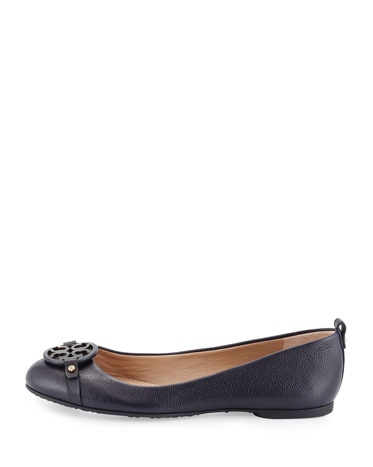 e2e75166cbf4 Lyst - Tory Burch Mini Miller Leather Ballet Flats in Blue