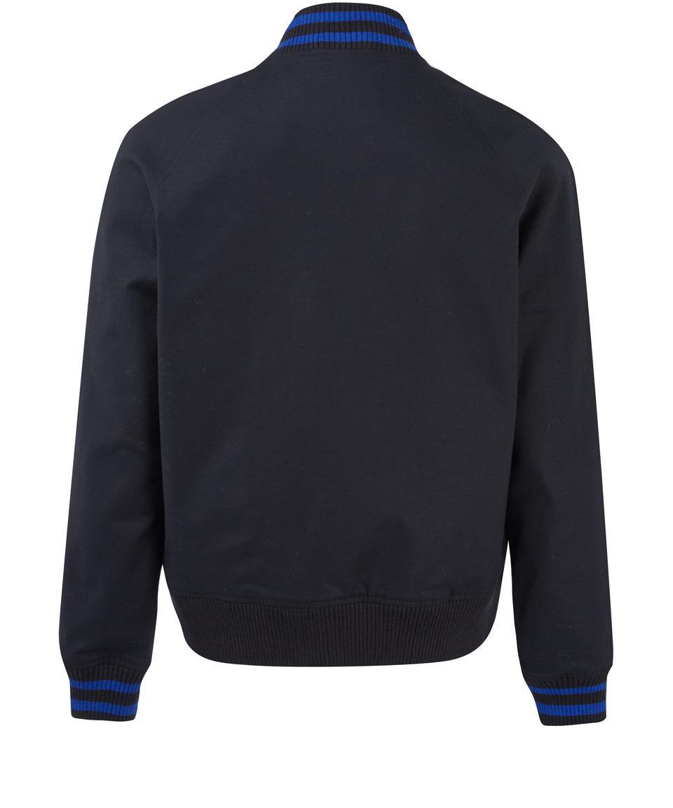 Stussy Black Raf Simons Varsity Bomber Jacket for Men