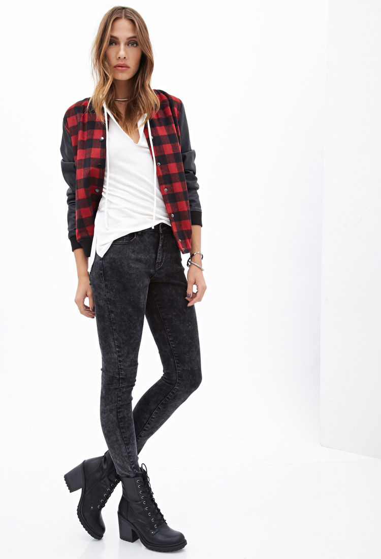 Forever 21 The Sunset Mid Rise Jean In Black Lyst
