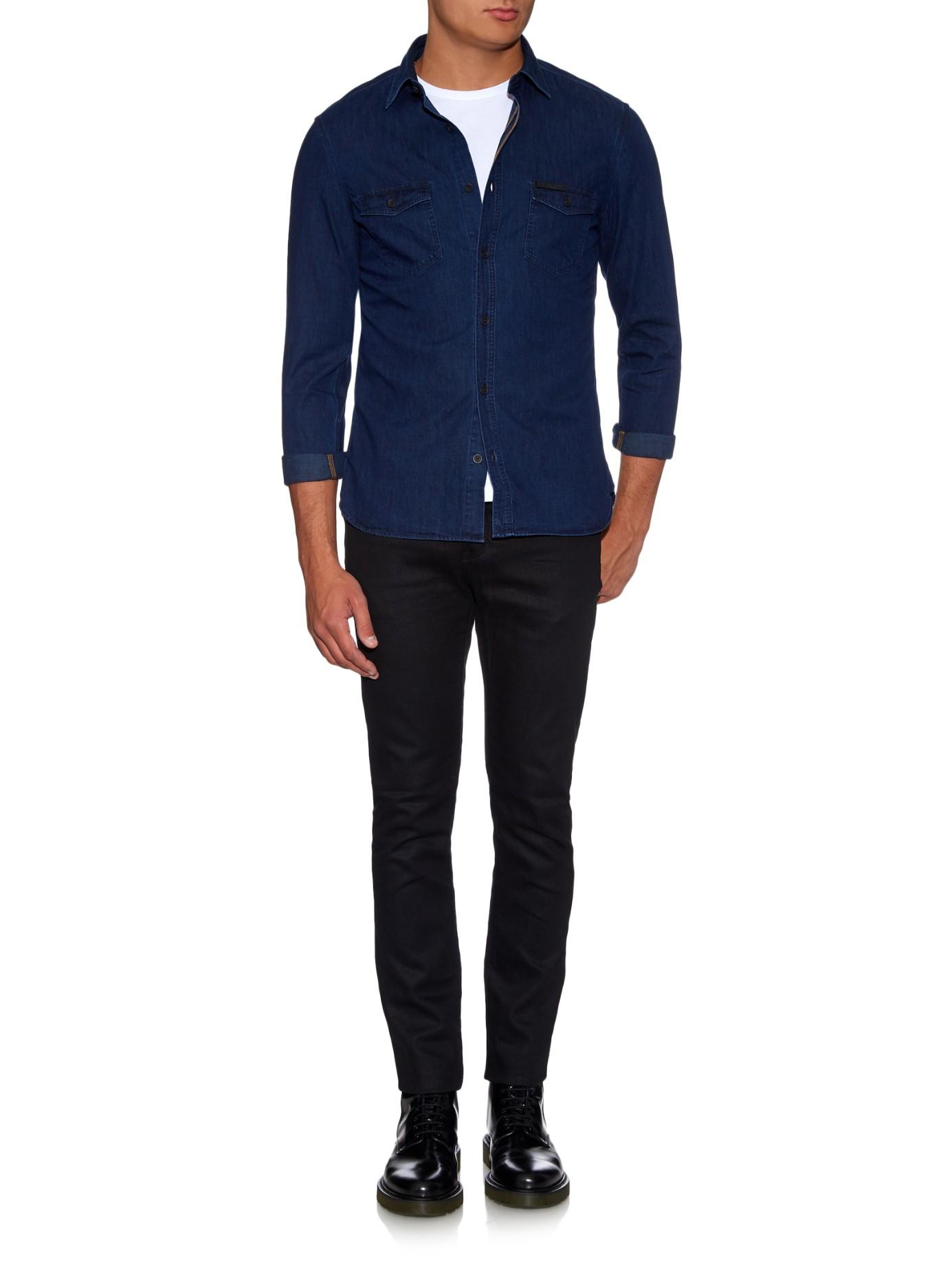 Burberry Brit Zach Denim Shirt in Indigo (Blue) for Men