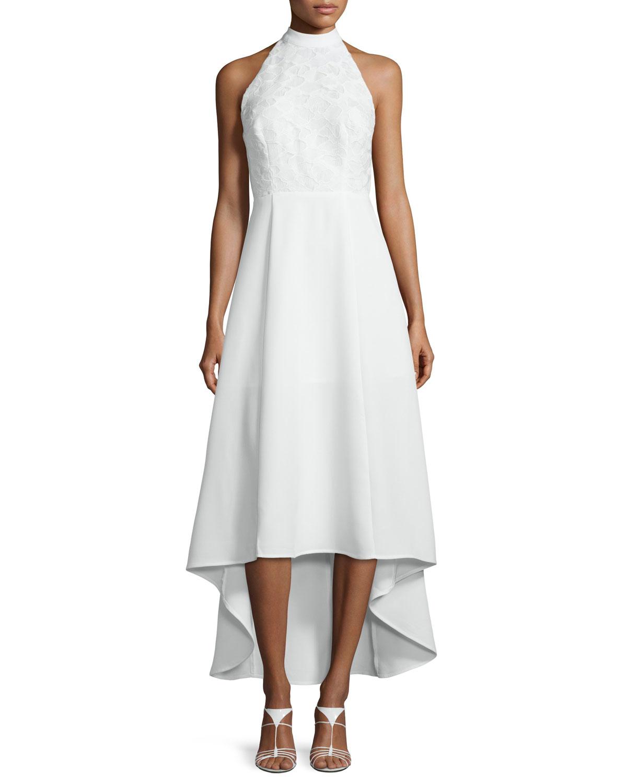 Keepsake All Talk Halter-neck High-low Dress in White | Lyst