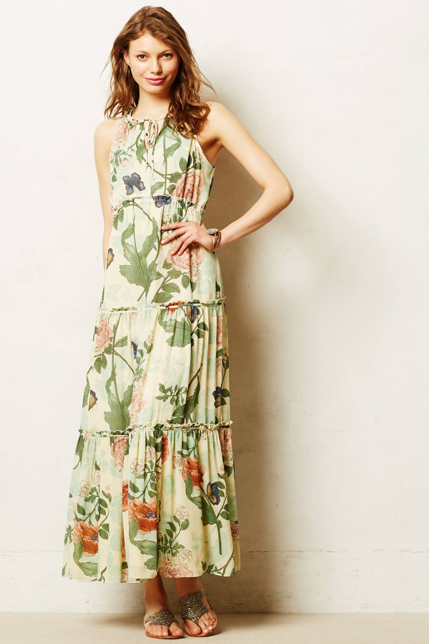 Lyst Maeve Maravilla Maxi Dress In Green