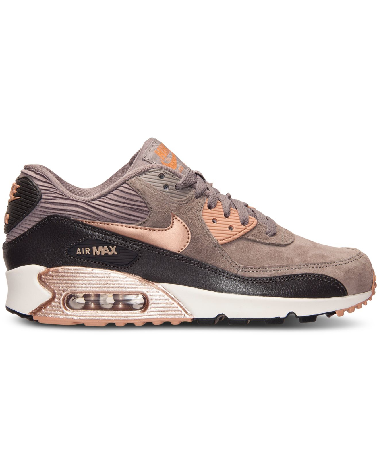 nike women 39 s air max 90 leather running sneakers from. Black Bedroom Furniture Sets. Home Design Ideas