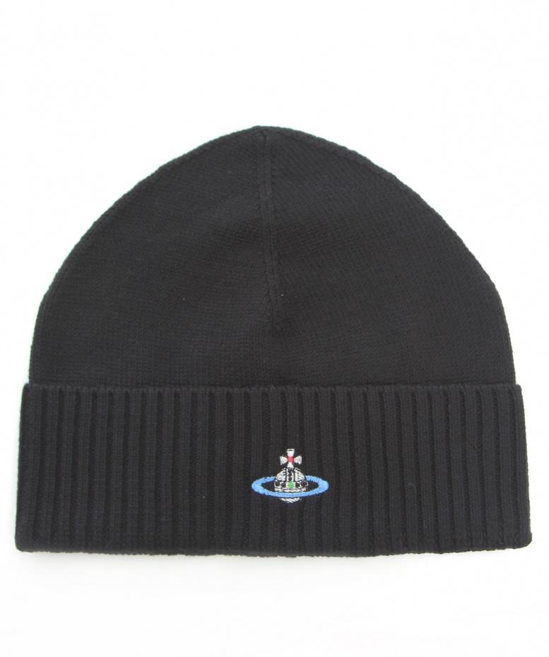 8de7bd01f49 Lyst - Vivienne Westwood Orb Beanie Hat in Black for Men