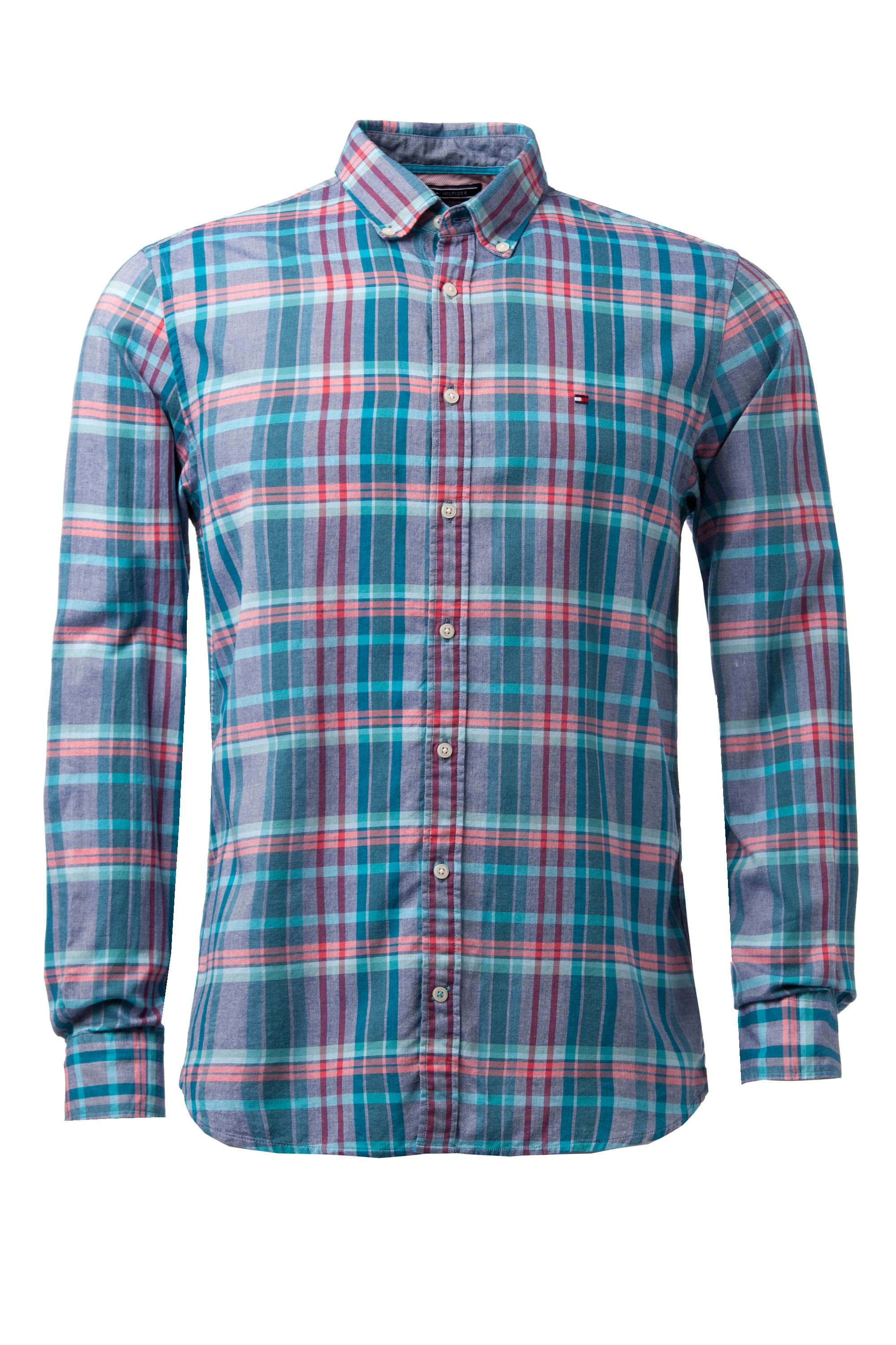 Tommy hilfiger blue emery check classic fit shirt for for Tommy hilfiger vintage fit shirt