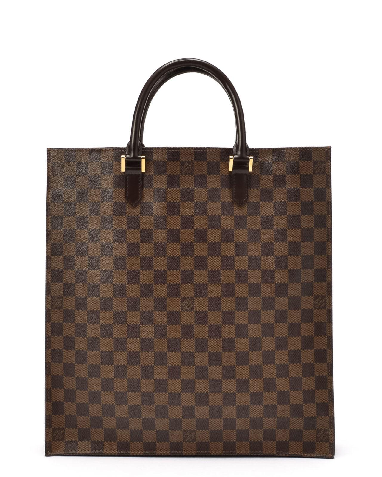 louis vuitton damier ebene sac plat handbag in green lyst. Black Bedroom Furniture Sets. Home Design Ideas